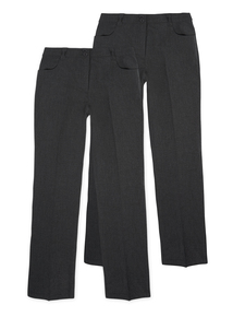 Girls Grey Trousers 2 Pack (13- 16 years)