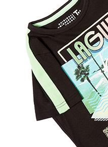 Black Laguna Beach T-shirt (3-14 years)