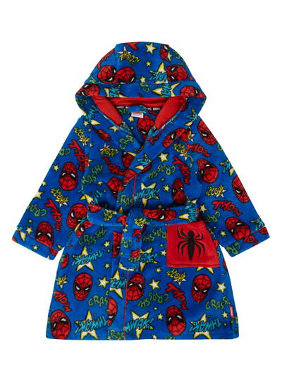 All Boy\'s Clothing Boys Blue Spiderman Dressing Gown (2-12 years ...