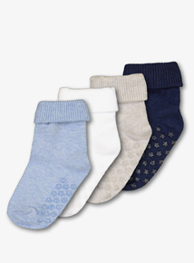 Multicoloured Roll Top Socks (0-24 months) 4 Pack
