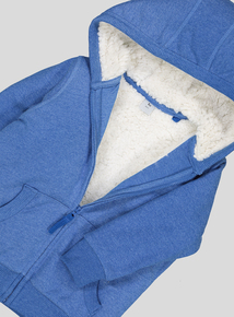 Blue Borg Lined Zipped Hooded Sweatshirt (9 Months - 6 Years)
