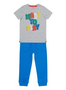 Grey Made To Play Tee & Joggers Set (9 months-5 years)