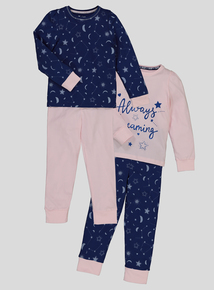 Multicoloured Pyjamas 2 Pack (3 - 13 years)