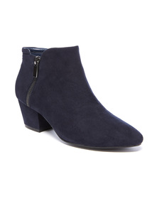 Micro Stitch Detail Ankle Boot