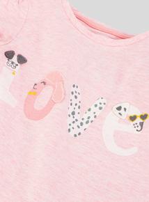 Pink Puppy Love T-Shirt (9 months-6 years)