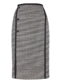 Monochrome Tipped Pencil Skirt