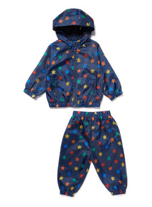 Multicoloured Star Print Jacket and Trousers Puddle Set (9 months-6 years)