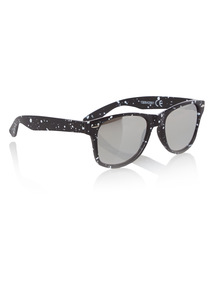 Black Splatter Mirrored Sunglasses