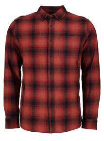 Burnt Orange Ombre Regular Fit Check Shirt