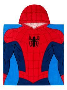 Kids Red Disney Spiderman Poncho