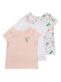 3 Pack Multicoloured Fleur Tops (3-14 years)