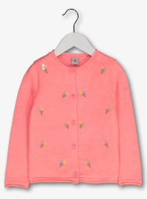 7e55b85f78f Pink Ice Cream Sequin Detail Cardigan (9 months - 6 years)