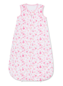 White Floral Woven 1.5 Tog Sleep Bag (0-24 months)