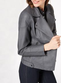Grey Linea Quilt Jacket
