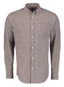 Burgundy Gingham Check Regular Fit Shirt