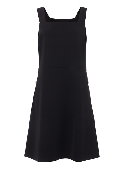 Black Square Neck Pinnie