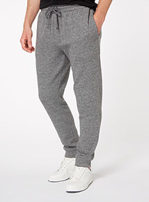 Grey Heathered Drawstring Joggers