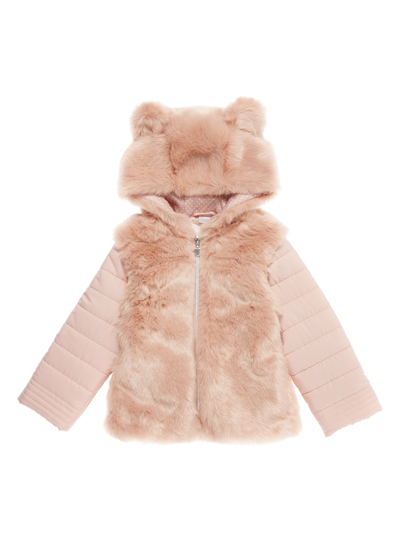 8eaf7debfecf0 Kids Girls Pink Faux-Fur Coat (9 months-5 years)