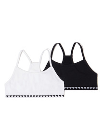 2 Pack White and Black Crop Tops (4-14 years)