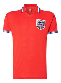 Exclusive England Retro Red Football Jersey