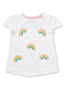 White Rainbow Sequinned T-Shirt (9 months - 6 years)