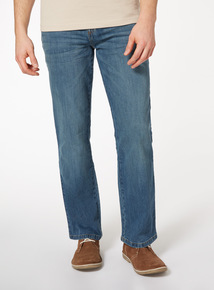 Light Denim Wash Bootcut Jeans