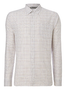 White Check Relaxed Fit Shirt