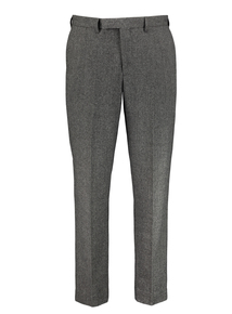 Grey Herringbone Tailored Trousers