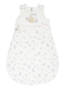 Girls Cream Guess How Much I Love You Sleeping Bag (0-24 months)