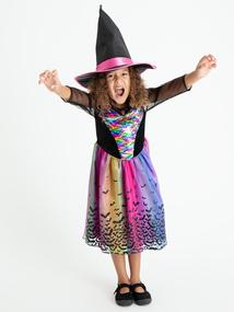 Rainbow Wizardess Halloween Costume (3 - 12 Years)