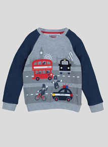 Multicoloured London Bus Jumper (9 Months - 6 Years)