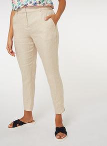 Herringbone Linen Trousers