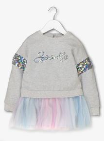 Multicoloured 'Sparkle' Tutu Tunic ( 3 - 14 years)