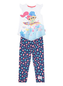 Multicoloured Shimmer and Shine Top And Leggings Set (1 - 6 years)