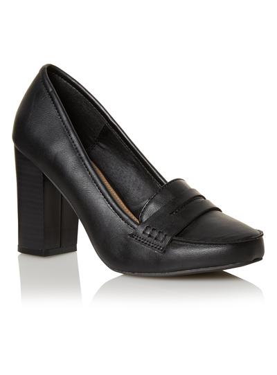 e729a9c14 Womens Black Heeled Loafers | Tu clothing