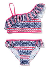 Multicoloured Frill Bikini (5-14 years)