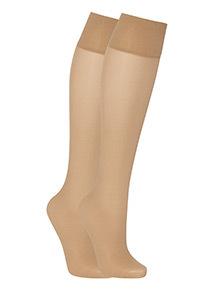 2 Pack Light Support Knee High Socks