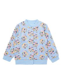 Girls Blue Floral Jacket (0-24 months)