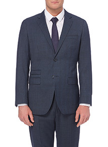 Blue Prince Of Wales Checked Jacket
