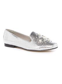 Pearl & Gem Embellished Slipper