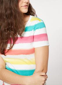 Stripe Print T-Shirt