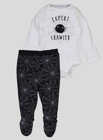 Multicoloured 'Expert Crawler' Spider Body and Leggings Set (0-24 months)