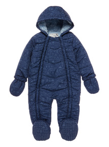 Navy Bear Print Snowsuit (1 - 24 Months)