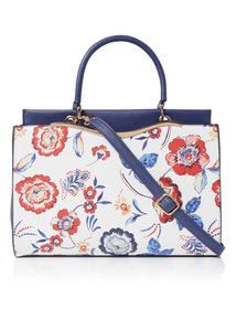 Multicoloured Floral Handbag