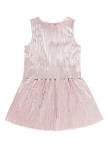 Pink Plisse Dress (3 - 12 years)