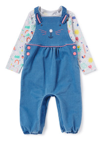 Denim Bunny Dungaree and Body Set (0-24 months)