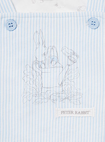 Blue Peter Rabbit Bodysuit and Bibshort Set (Newborn - 12 months)