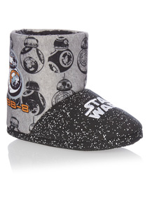 Black Star Wars Disney Slipper Boots