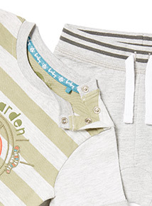 Grey Garden Print Top and Joggers Set (0-24 months)