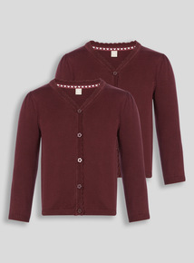 Dark Red Cardigan 2 Pack (2-12 years)